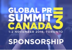 Global PR Summit Canada 3 Sponsorship Package