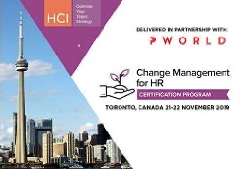 Change Management For HR (CMHR) Certification Toronto-2019