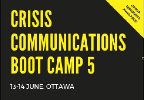 Crisis Communications Boot Camp 5-Otawa-2019