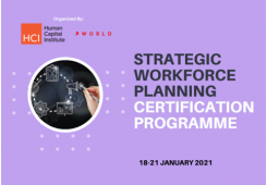Strategic Workforce Planning Certification Program Virtual Edition 2021