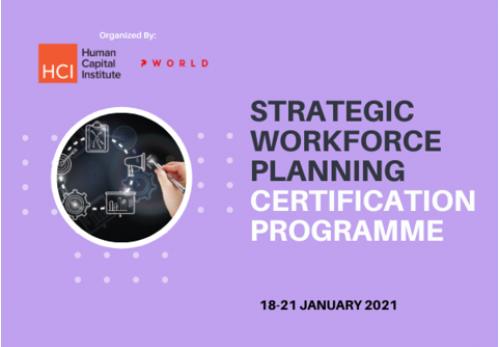 Strategic Workforce Planning Certification Program Virtual Edition 2021