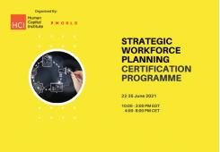 Strategic Workforce Planning Virtual Edition 22-25 June 2021