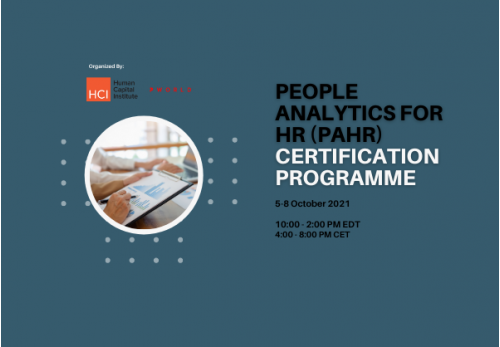 People Analytics for HR (PAHR) Certification October 5-8 2021