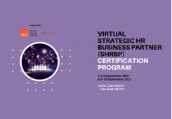 Virtual Strategic HR Business Partner (sHRBP) Certification Program 1-2-3 September