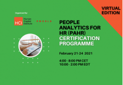 People Analytics for HR (PAHR) Certification February 2022