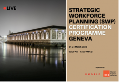 Strategic Workforce Planning Certification Program (SWP) Geneva, 22 & 23 March 2022